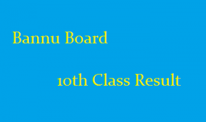 Bise Bannu Board 10th Class Result