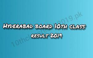 Hyderabad board 10th class result 2019